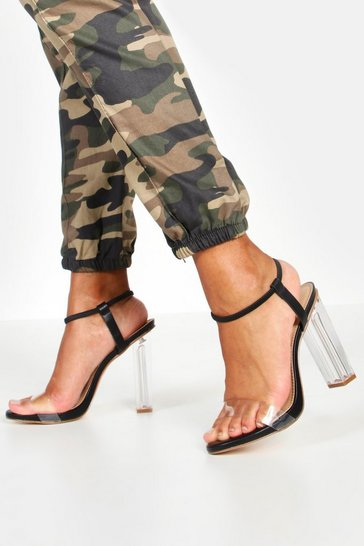 Black Halo Ankle Band Clear Heel 2 Parts