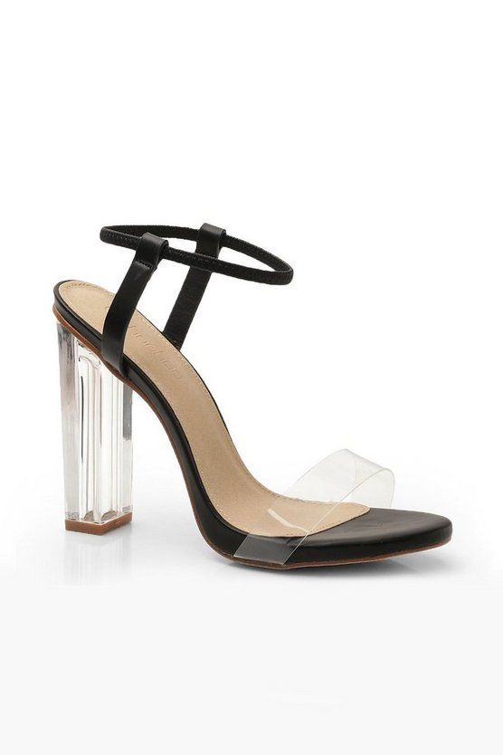 Halo Ankle Band Clear Heel 2 Parts