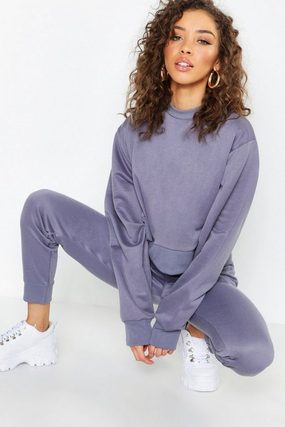 Crew Neck Cropped Sweat