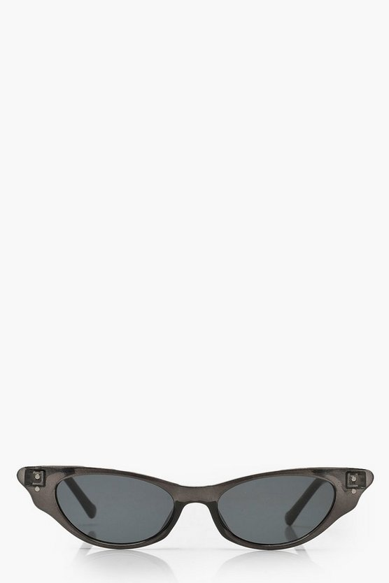 Transparent Frame Cat Eye Sunglasses