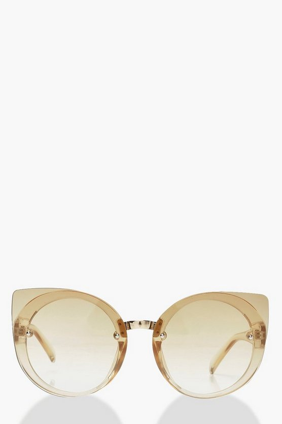 Oversized Opaque Cat Eye Sunglasses