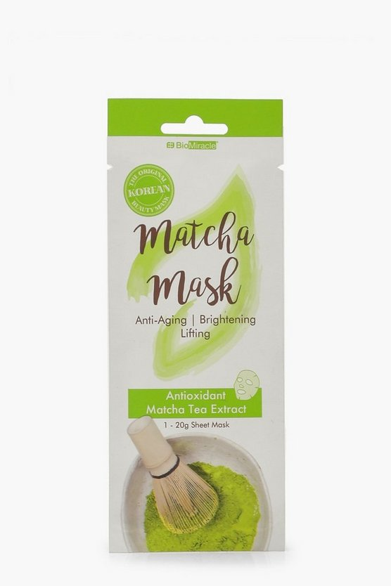 Womens Multi Matcha Tissue Face Mask