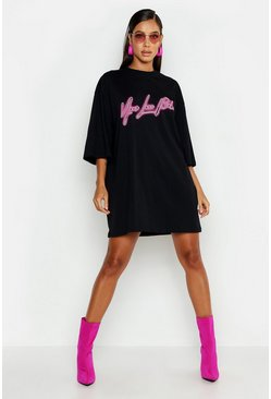 Black Your Loss 3/4 Sleeve T-Shirt Dress