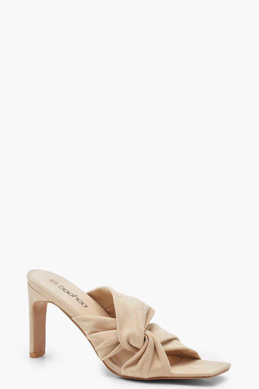 Twist Front Flat Heel Mules