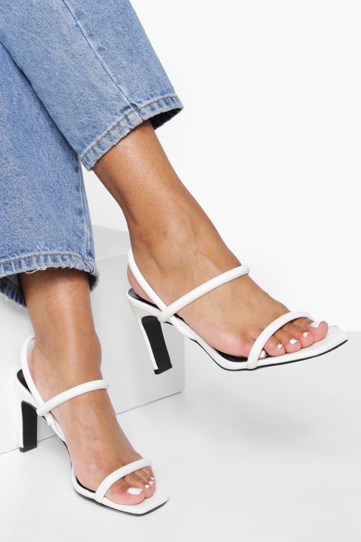 Flat Low Heel Slingback 2 Part Heels