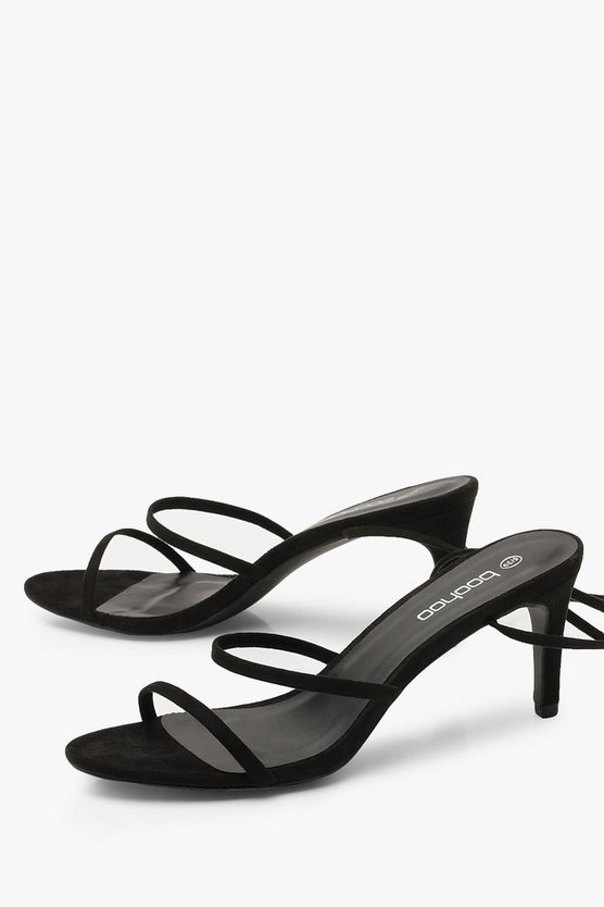 Skinny Strap Low Heel Sandals