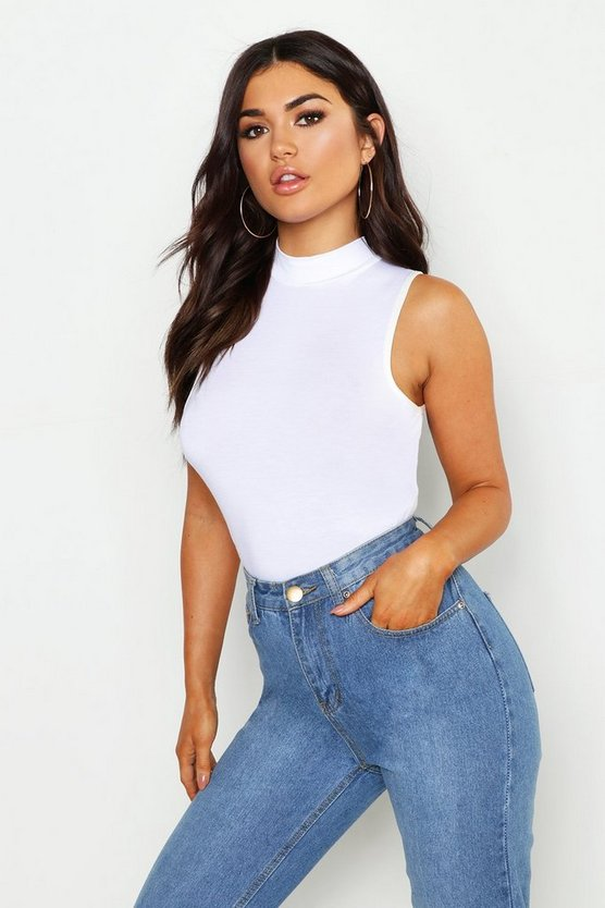 Basic Turtle Neck Racer Front Top
