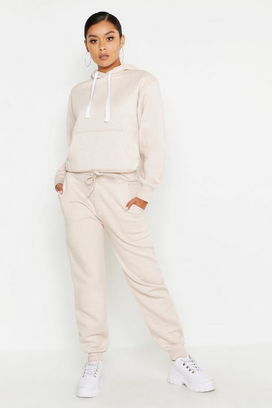 Womens Ecru Hooded Tracksuit