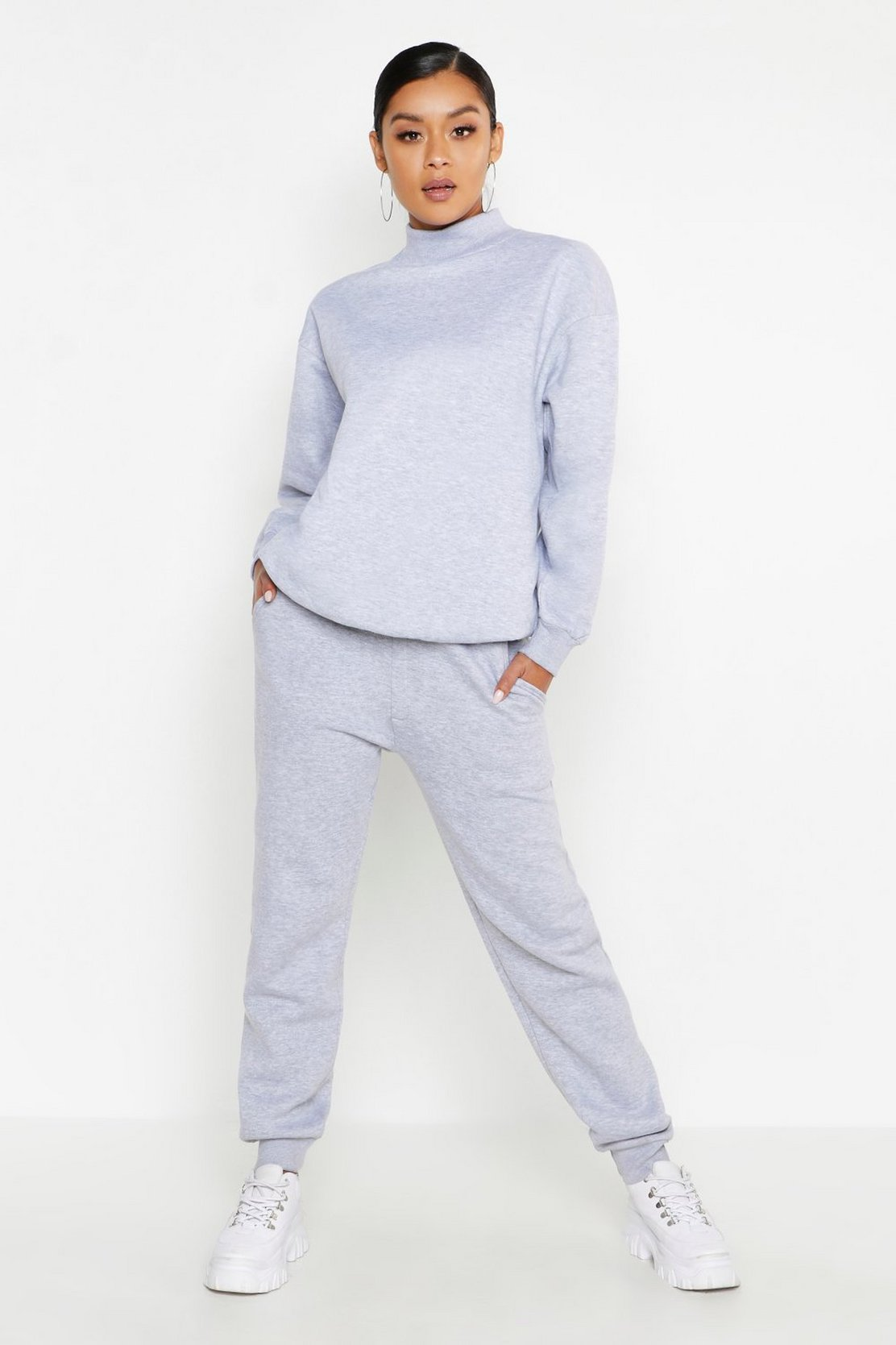 Funnel Neck Oversized Tracksuit by Boohoo
