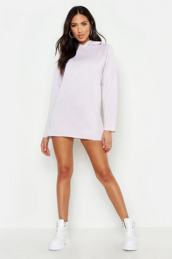 Womens Lilac Hooded Sweat Dress