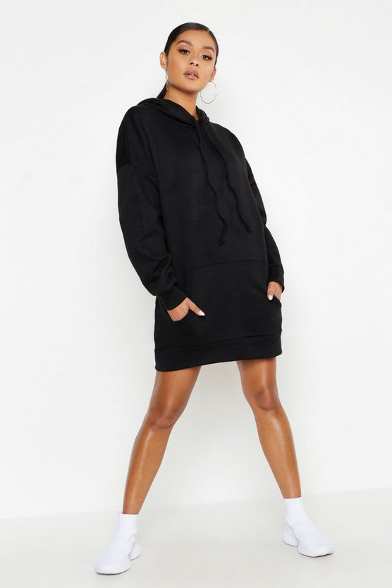 Oversized Hooded Pocket Sweat Dress