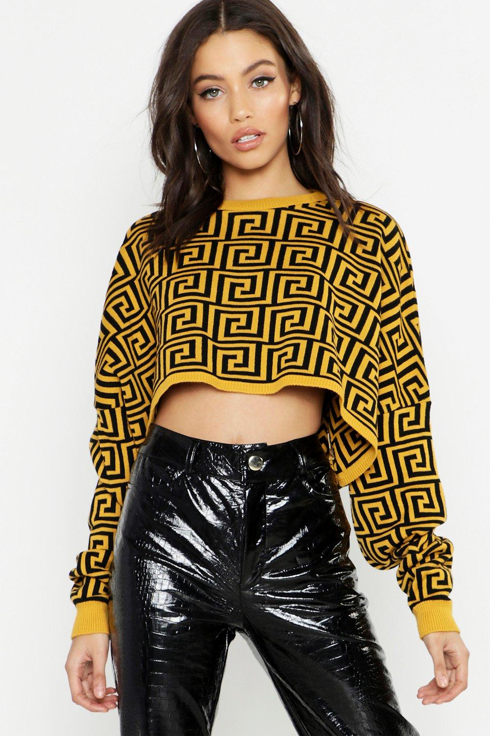 Cropped Oversized Jumper