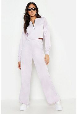 Womens Lilac Wide Leg Jogger