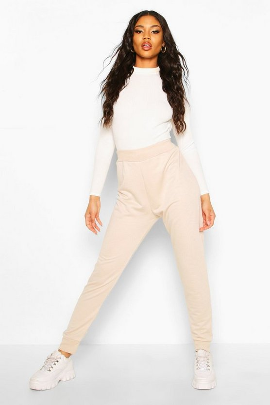 Womens Ecru Basic Cuffed Jogger