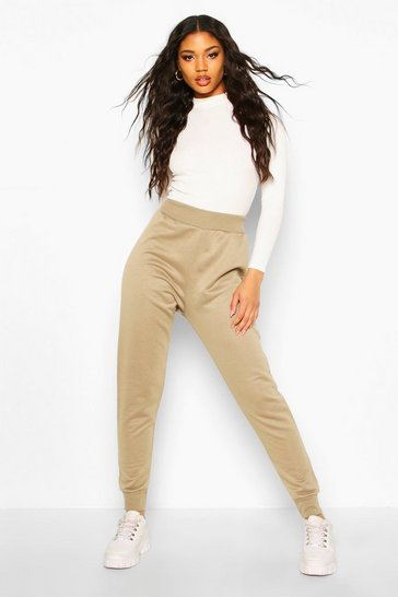 Womens Khaki Basic Cuffed Jogger