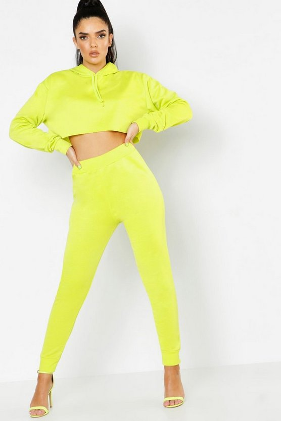 Womens Neon-green Neon Basic Jogger
