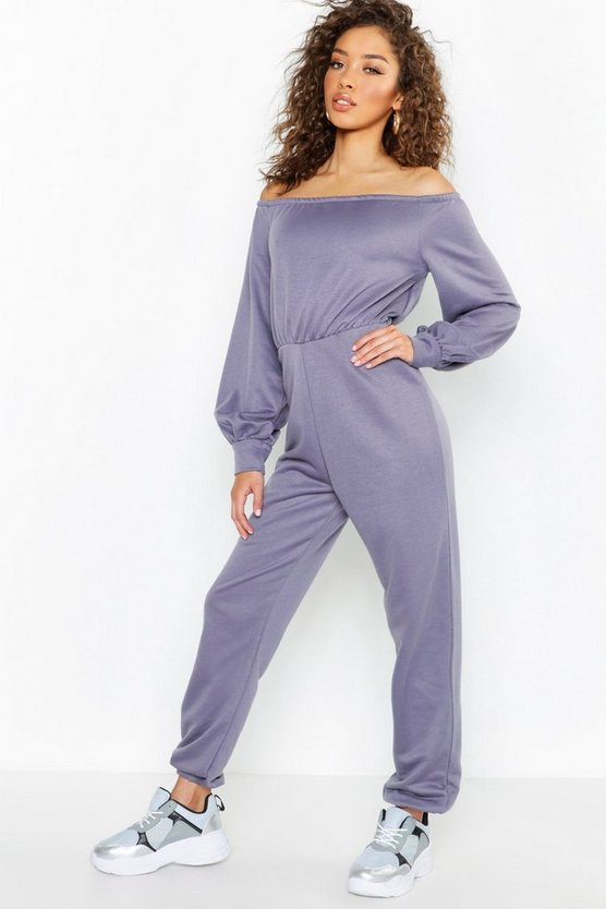 Womens Petrol Off The Shoulder Detail Jumpsuit