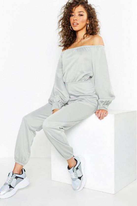 Off The Shoulder Detail Jumpsuit