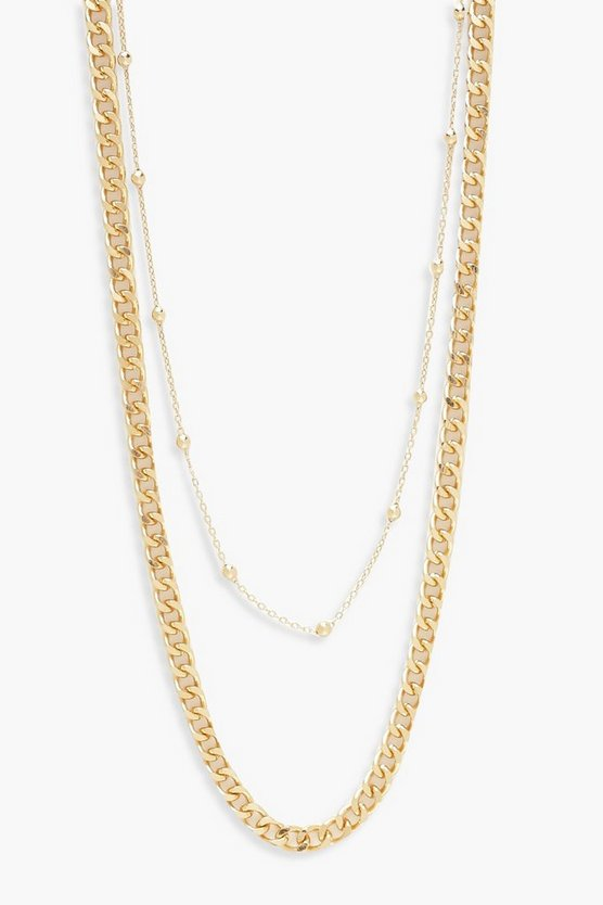 Simple & Chunky Chain Layered Necklace
