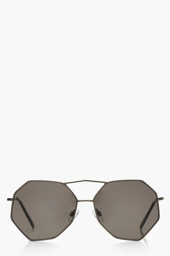 Angular Frame Aviator Sunglasses