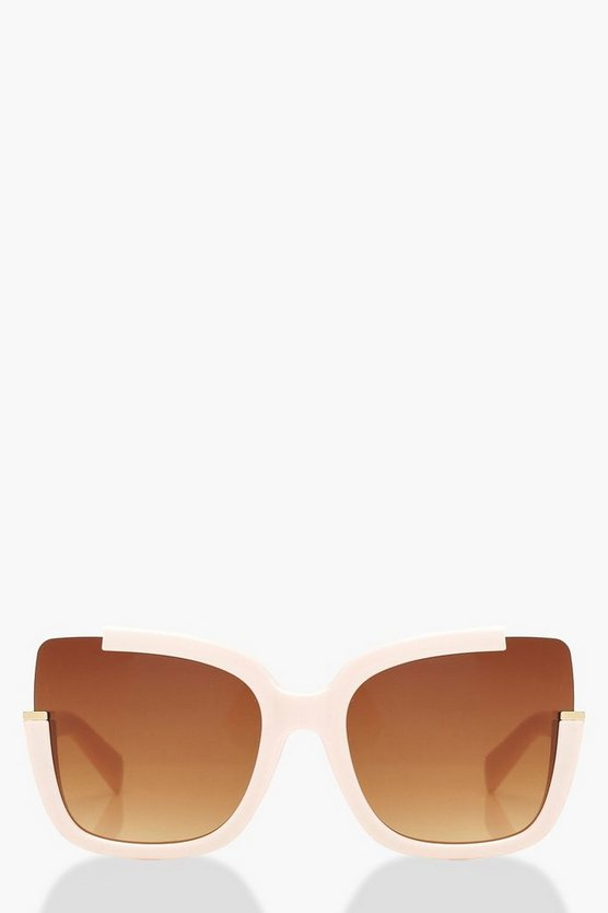 Blush Oversized Frame Square Sunglasses