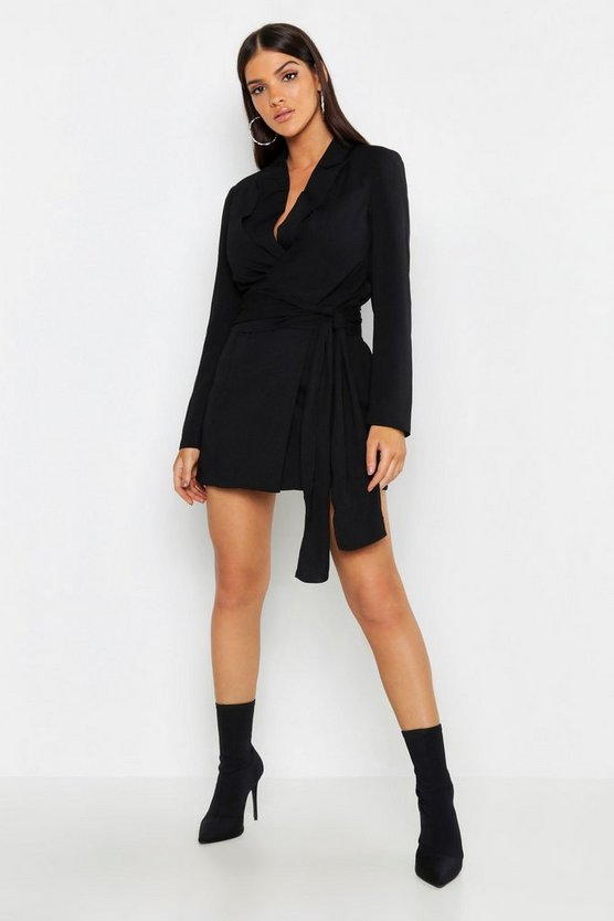 Wrap Detail Blazer Dress