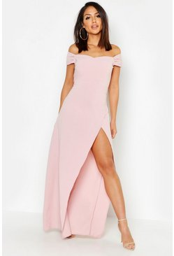 Rose Off The Shoulder Maxi Dress