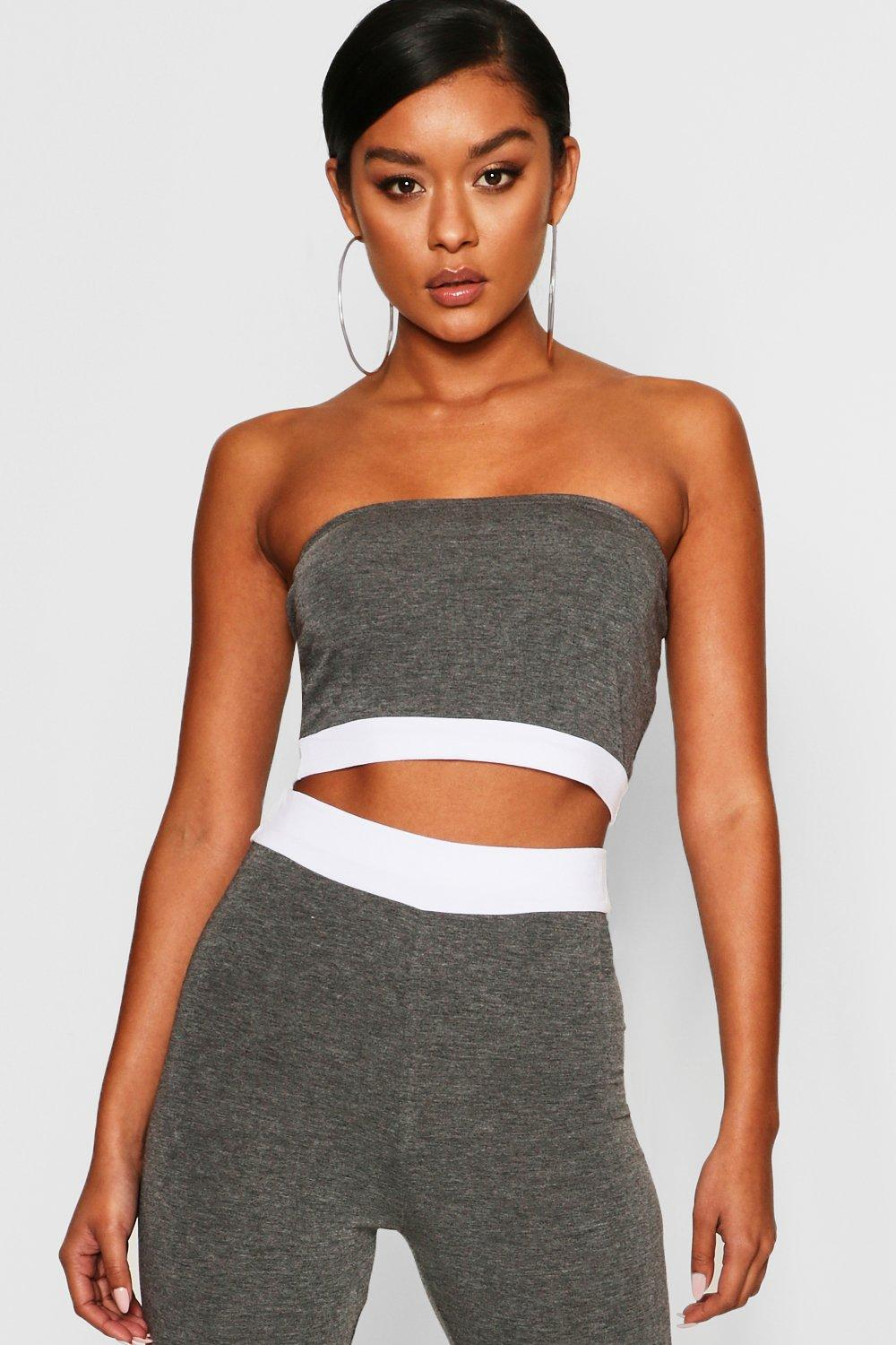 Contrast Band Bandeau Top