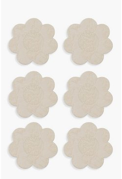 Nude Boohoo 3 Pack Lace Nipple Covers