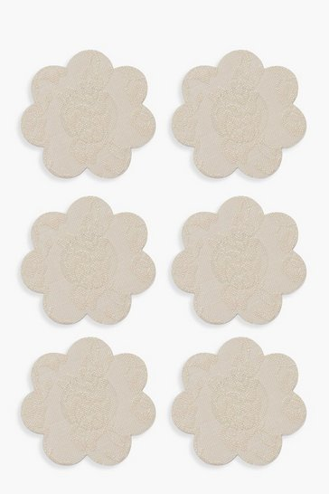 Womens Nude Boohoo 3 Pack Lace Nipple Covers
