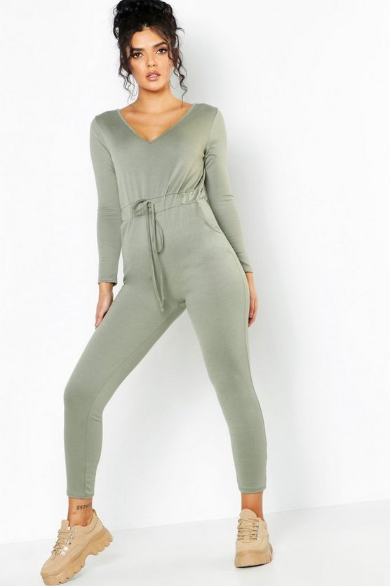 Athleisure V Neck Jumpsuit