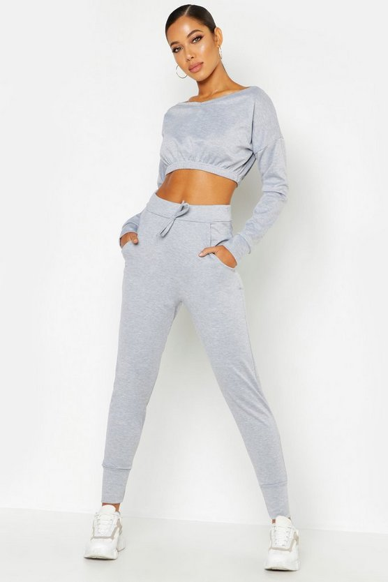 Off Shoulder Tracksuit Set