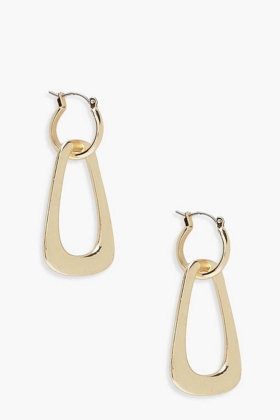 Double Layer Drop Earrings