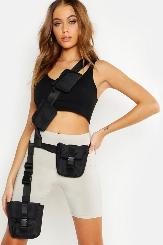 Womens Black Body & Leg Harness