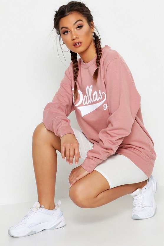 Fit Dallas Slogan Sweatshirt