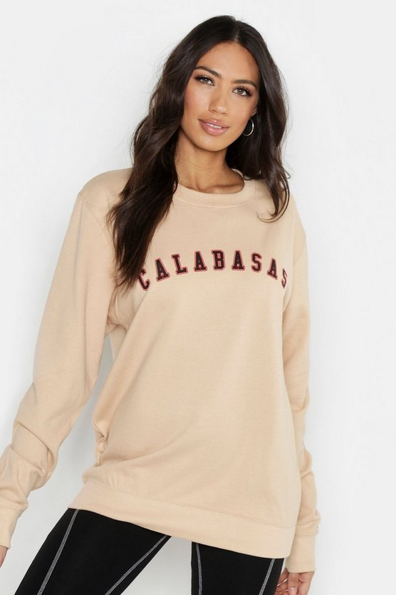 Fit Calabasas Slogan Sweatshirt