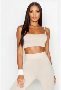Womens Stone Fit Basic Gym Crop Top
