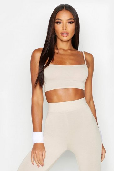 Womens Fit Basic Gym Crop Top