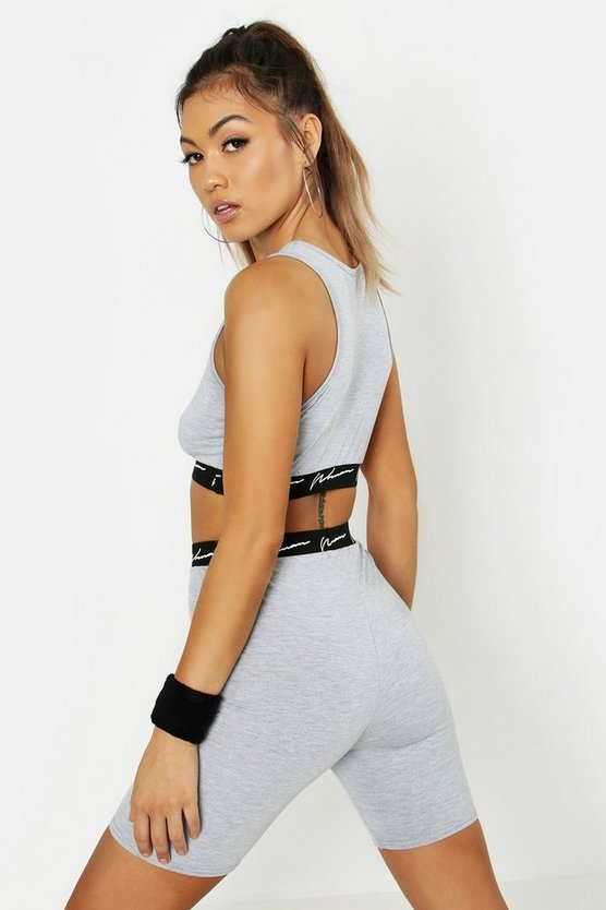 Fit Woman High Neck Gym Crop Top