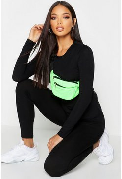 Womens Black Fit Basic Long Sleeved Gym Top