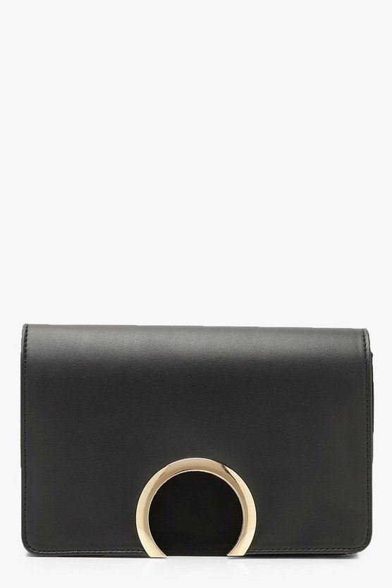 Suedette & PU Large Ring Cross Body