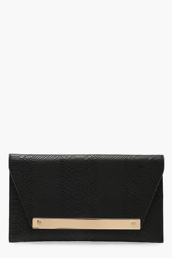 Large Bar Snake Clutch & Chain