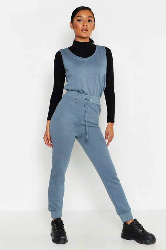 Sleeveless Sweat Jumpsuit