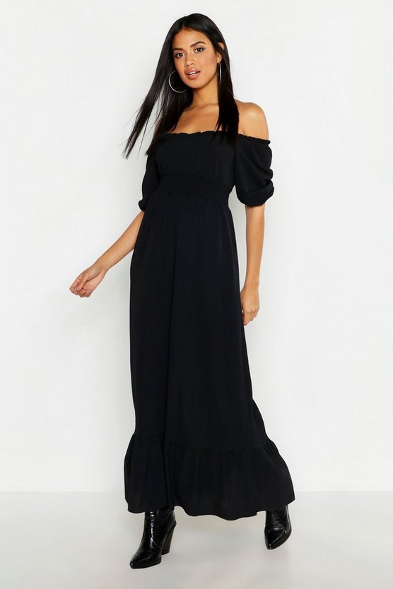 Ruffle Detail Sweetheart Maxi Dress