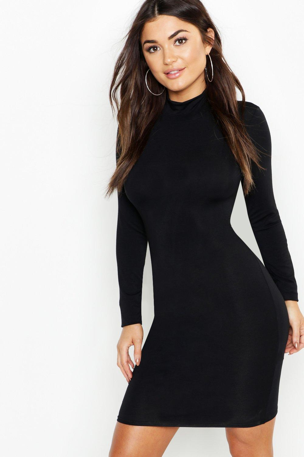 Jersey Roll Neck Bodycon Dress