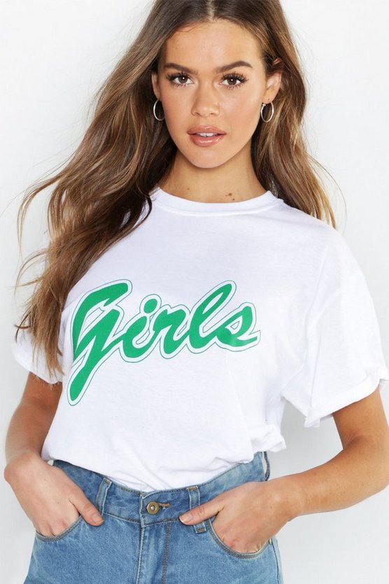 Girls Slogan T-Shirt