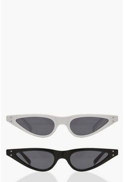 Dam Multi 2 Pack Skinny Cat Eye Sunglasses
