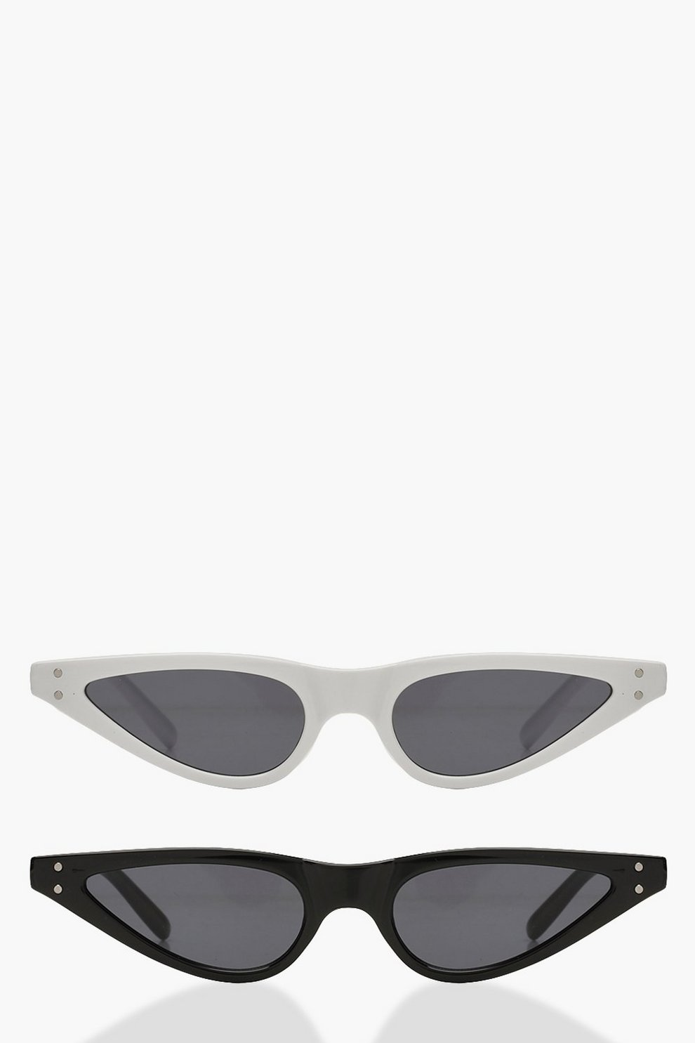 40e93f31d97 Womens Multi 2 Pack Skinny Cat Eye Sunglasses