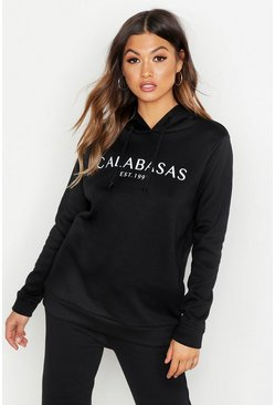 Womens Black Calabasas Sweat Hoody