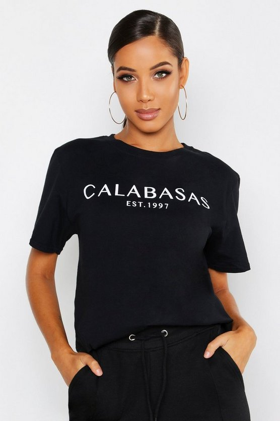 Womens Black Calabasas T-Shirt